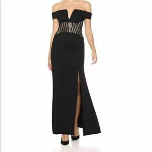 Bcbg lace corset gown